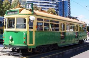 The Green W Tram series running down Chapel street... prepare no air conditioning on this one!