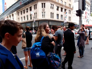 The busy streets of Sydney CBD