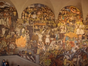 Just a section of Diego Riviera's fresco mural on the centre staircase at the National Palace