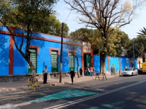 The 'Blue house' that Frida Kahlo and Diego Riviera lived and worked in throughout their marriage.