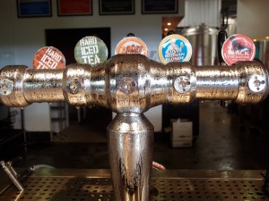 The on tap selection at MT Brewery