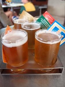 MT Brewery tasting tray