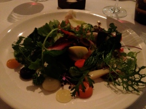 Course one - garden medley vegetables with pure full of flavour