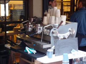 La Marzocco two group for the takeaway rush