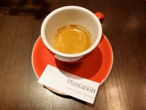 espresso from Plantation in Melbourne Central