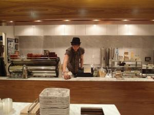 The minimalist state of the Blue Bottle Cafe at the Rock