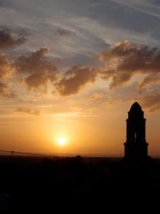 sunset over Trinidad