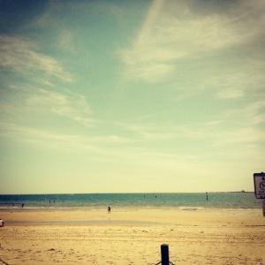 The Melbourne summer heat at St Kilda beach