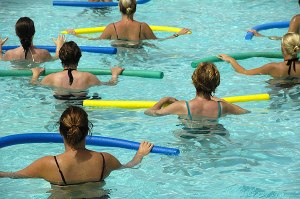 water aerobics makes a comeback