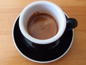A double shot espresso to start the day