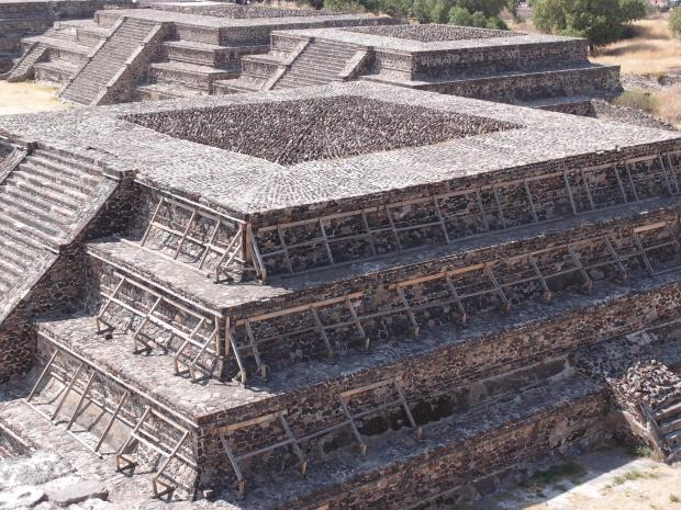 Just one of the remarkable Teotihuacan structures around Mexico City to visit