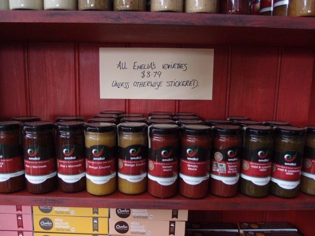 Emelias selection of relish and chutney for just $8.79 - brewed across the road on Piper Stree