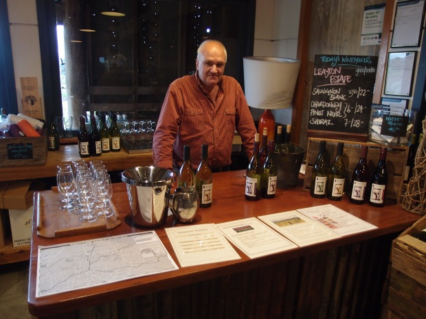 One of the visiting wine makers at the Dairy to answer all your Yarra Valley wine questions