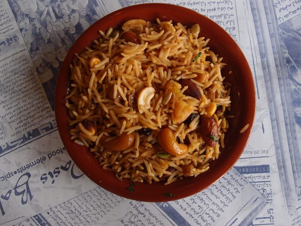 Savoury rice available at the Oasis Cafe