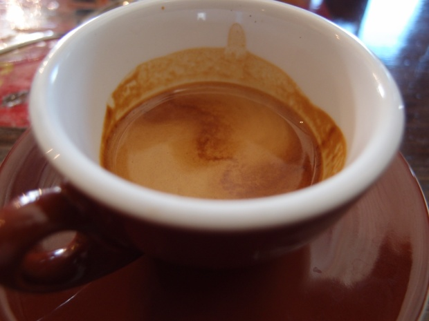 A double espresso of the Bolivian colonia Copacabana