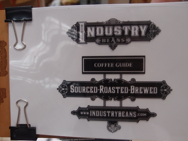 Industry Beans coffee menu