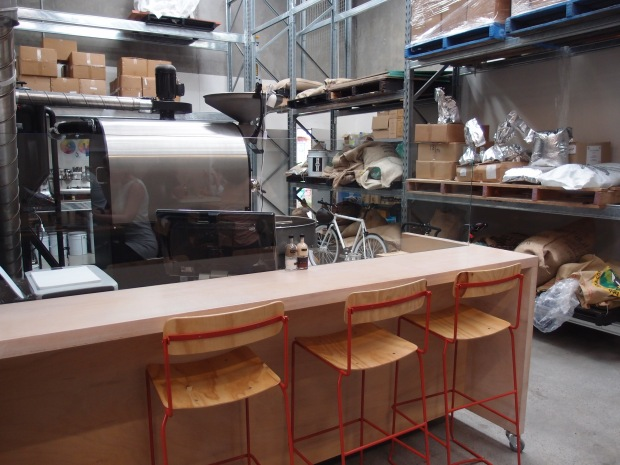 The in-house roastery