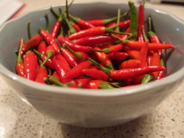 Collect as many fresh chillies from your garden