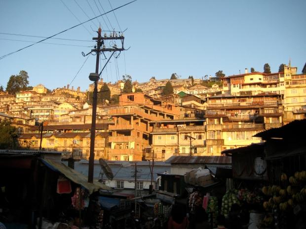 The vast Darjeeling hillside crammed with houses