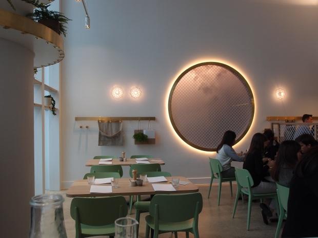 The minimalist modern dining area