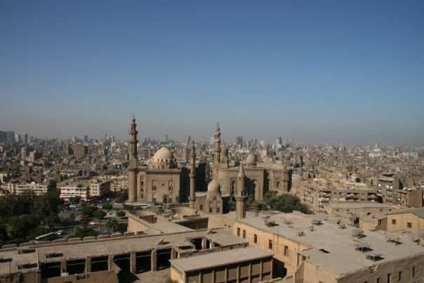 The call to prayer over the rooftops of Cairo