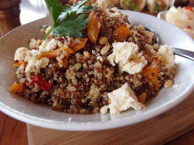 The quinoa salad at Cups Estate - just one of the delicious fresh dishes available on the lunch menu