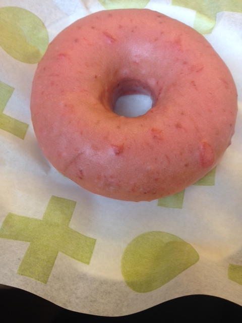 The Strawberry and Lime raised doughnut from Short Stop