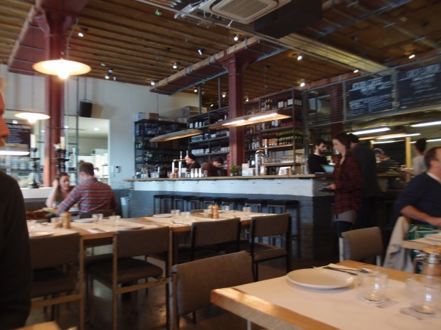 The spacious restaurant, bar and roastery at Caravan.