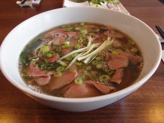 Rare beef pho from Vnam