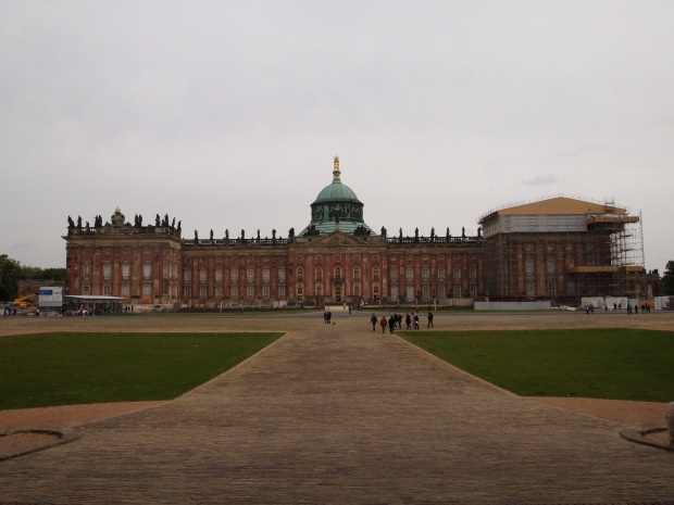 The vast scale of the New Palace in the UNESCO complex at Potsdam