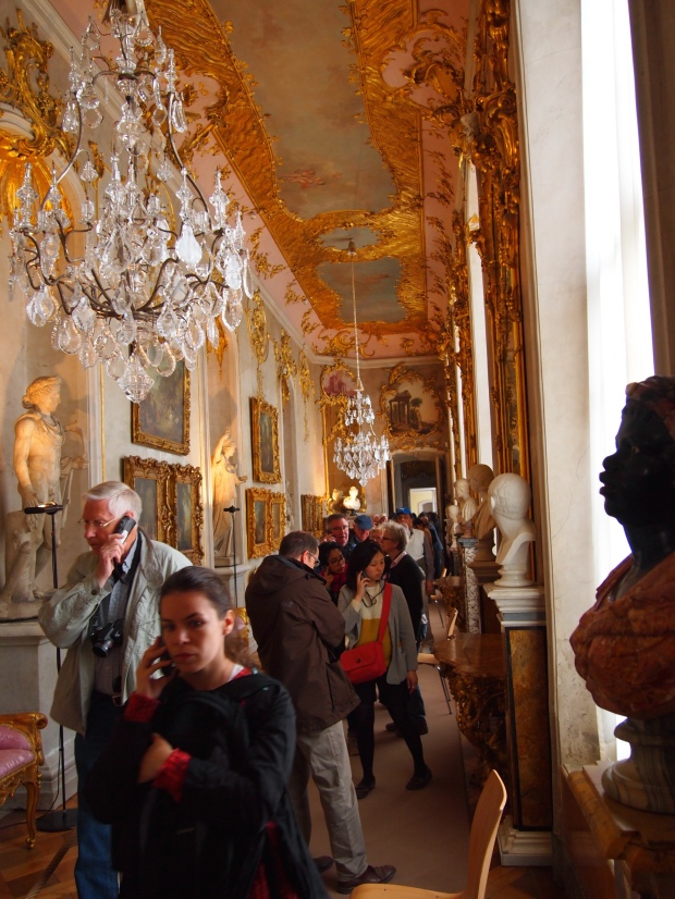 The lavish Rococo hallway connecting Frederick's private and public quarters.