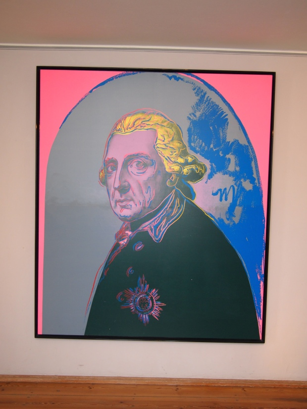 Andy Warhol's 1986 silk screen of Anton Graff's famous portrait