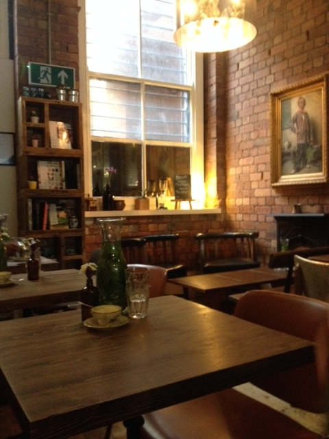 The warm and cosy living room style cafe, Mrs Athas