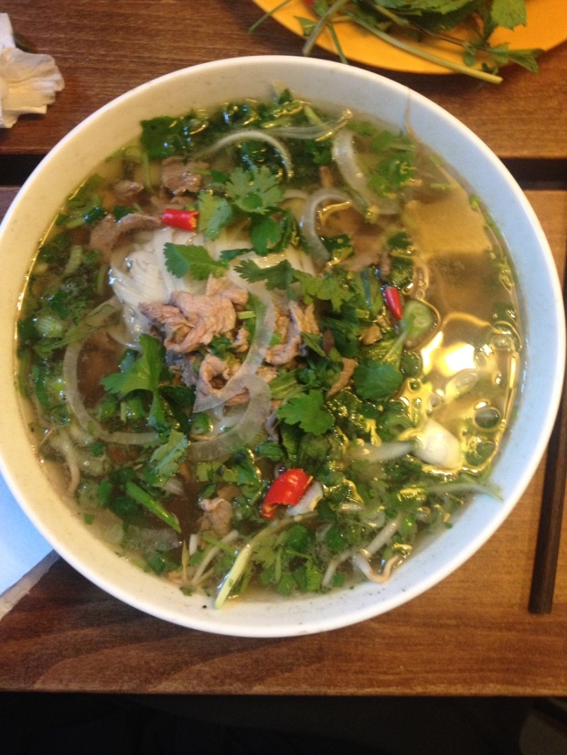 Pho Bo - sliced rare beef noodle soup