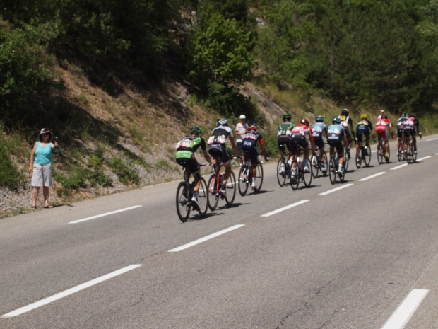 The tail end of the peloton