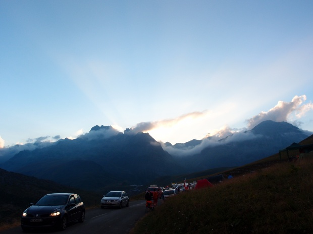 Views of our surrounds as the sun goes down on another stage of Le Tour.