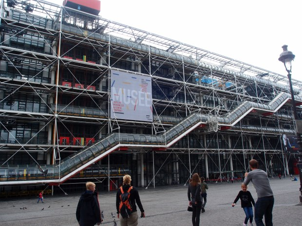 The controversial architecture at the Pompidou Centre.