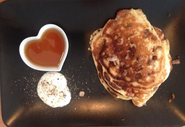 Dots loves sweets including these pancakes.