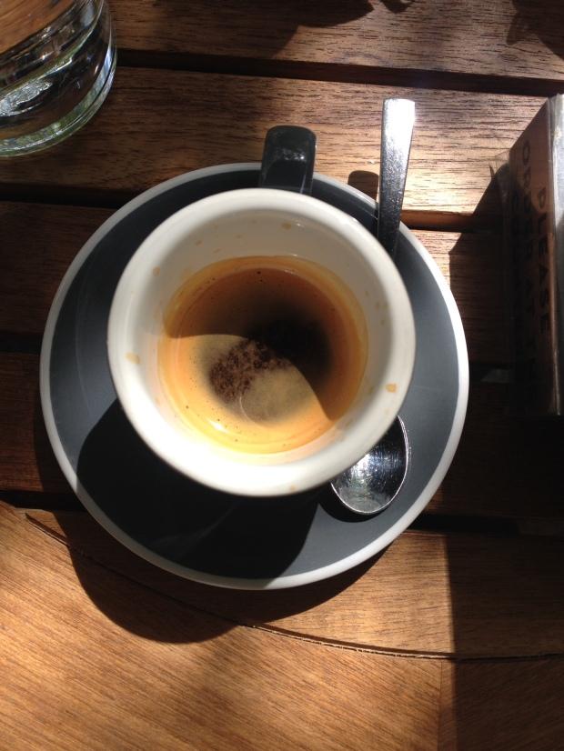 A single espresso.