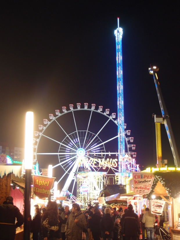 Bright lights and rides at the Christmas Markets in Mitte.