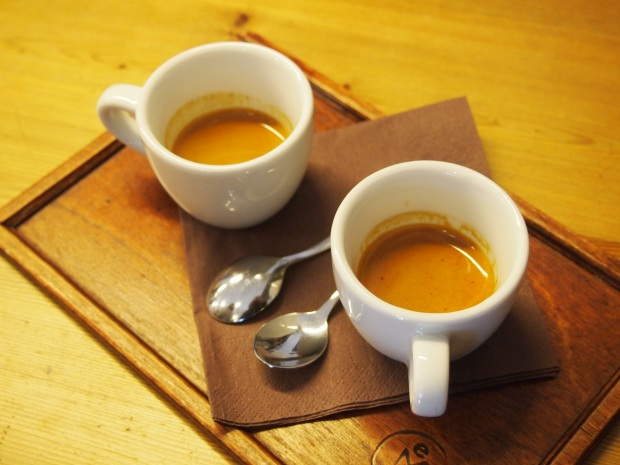 Espresso from EMA using beans from the Barn.