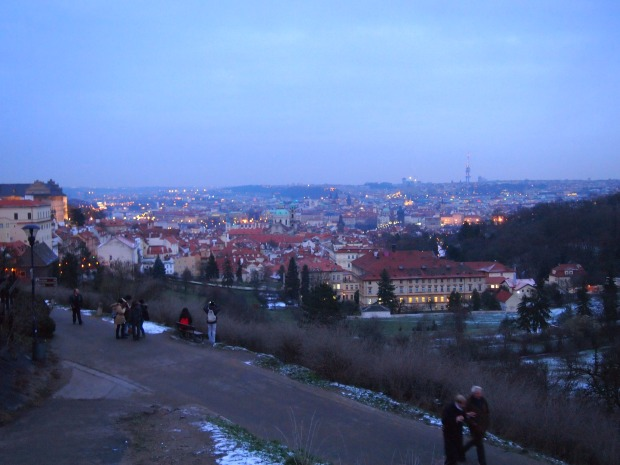 Views overlooking Prague from the Monastery