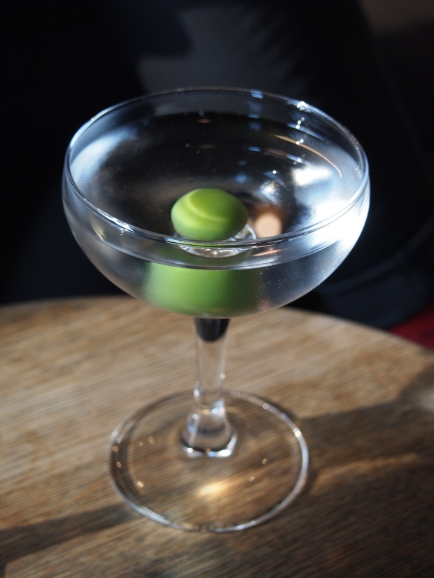 The search for a dry, gin, olive martini in Berlin.