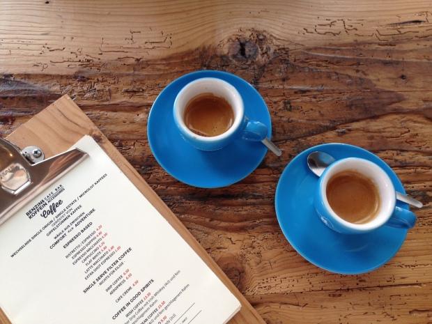 Espresso at benzin und koffein