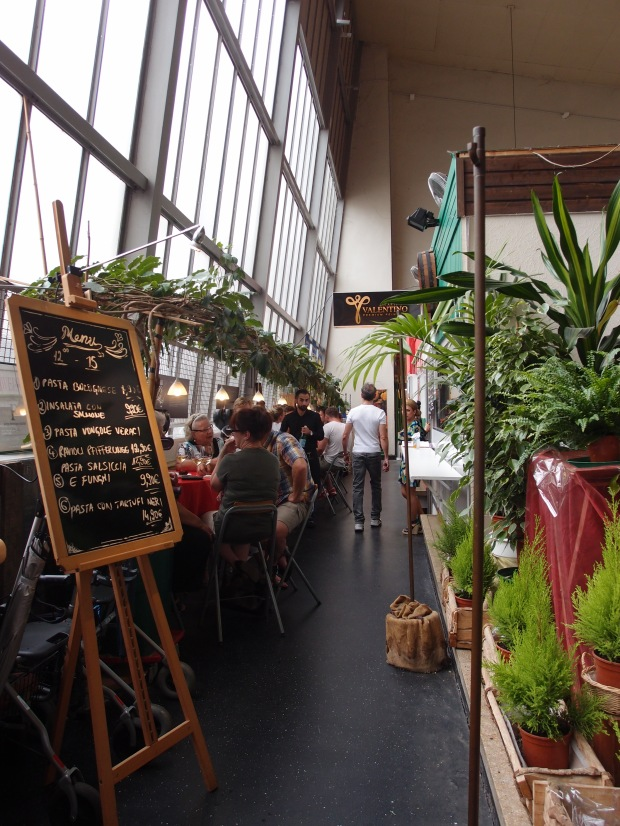 More than meets the eye. One of the restaurants at the markthalle.
